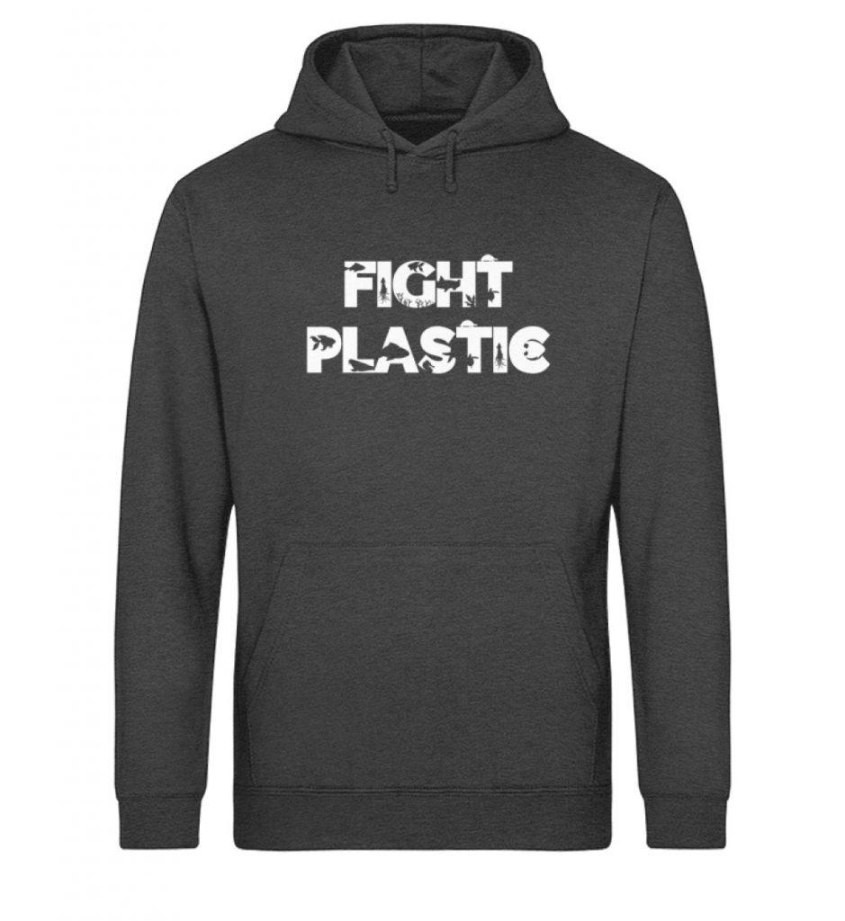 Fight Plastic Hoodie - Unisex Organic Hoodie-6881