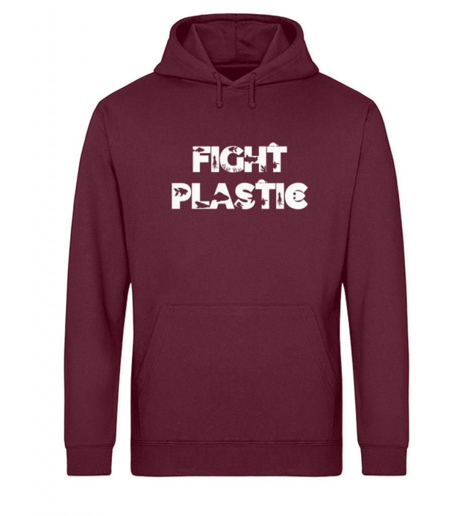 Fight Plastic Hoodie - Unisex Organic Hoodie-839