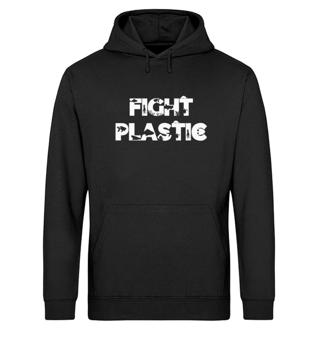 Fight Plastic Hoodie - Unisex Organic Hoodie-16