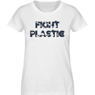 Fight Plastic Woman - Ladies Organic Shirt-3