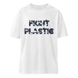Fight Plastic White - Fuser Oversized T-Shirt ST/ST-3