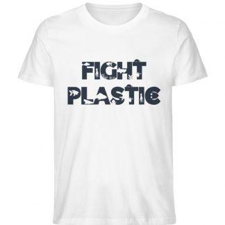 Fight Plastic White - Men Premium Organic Shirt-3